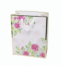 Floral & Gold Gift Bag - Medium