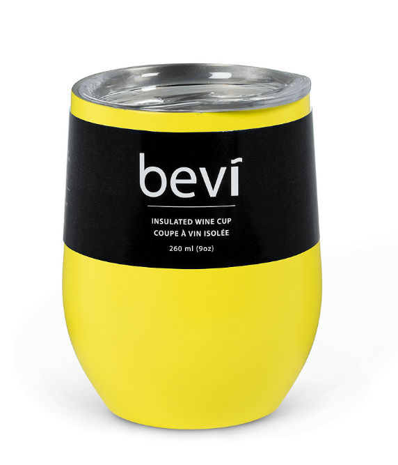 Bevi Insulated Wine Cup - Yellow