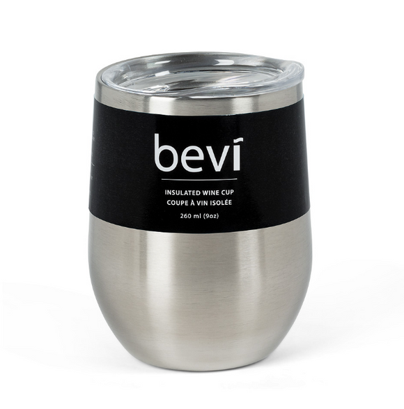 Bevi Insulated Wine Cup - Silver