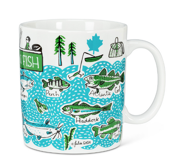 Jumbo Mug - Canadian Fish