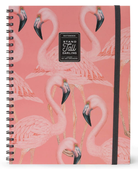 A4 Spiral Bound 3-in-1 Notebook - Flamingo