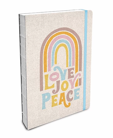 Love Joy Peace Coptic-Bound Notebook