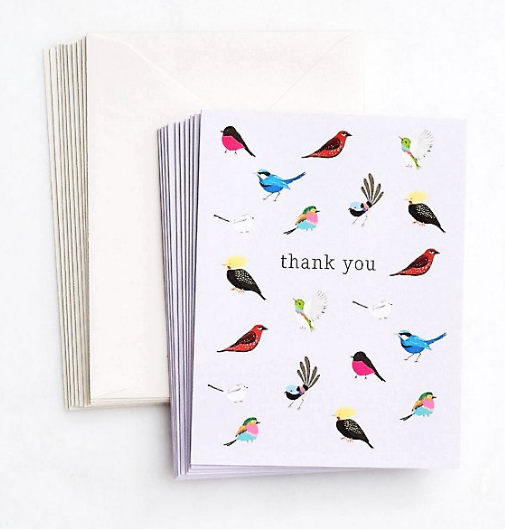 Boxed Thank You - Birds with Personality