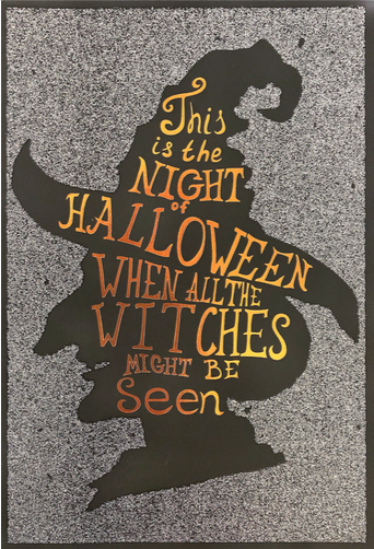 Halloween Card - Witch Silhouette