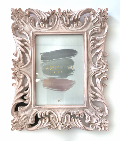 5X7 Picture Frame - Pink Filigree