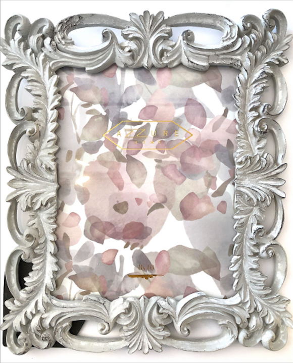 8X10 Picture Frame - Grey Filigree