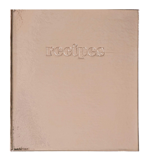 Pocket Page Recipe Book - Rose Gold