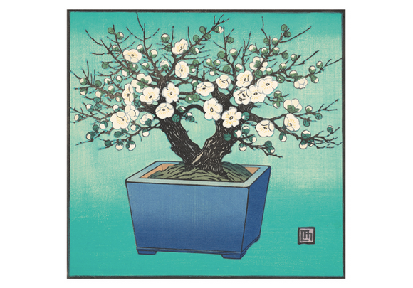 Lillian May Miller: Little White Plum Tree Small Boxed Notecards