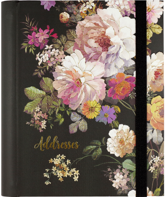 LG Format Address Book - Midnight Floral