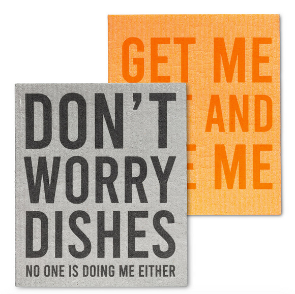 Swedish Dish Cloth - Use Me/Don't Worry