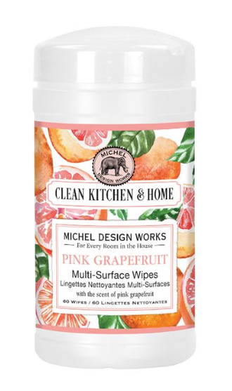 Michel Design Multi Surface Wipes - Pink Grapefruit