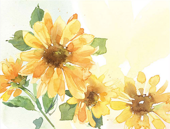 Yellow Florals Boxed Notes