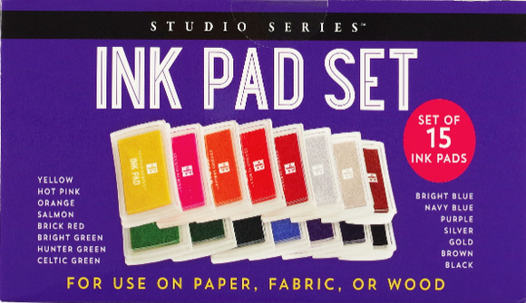 Ink Pad Set of 15