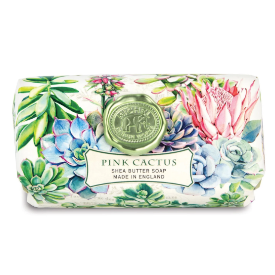 Michel Design Bar Soap - Pink Cactus