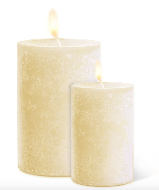 Cream Pillar Candles
