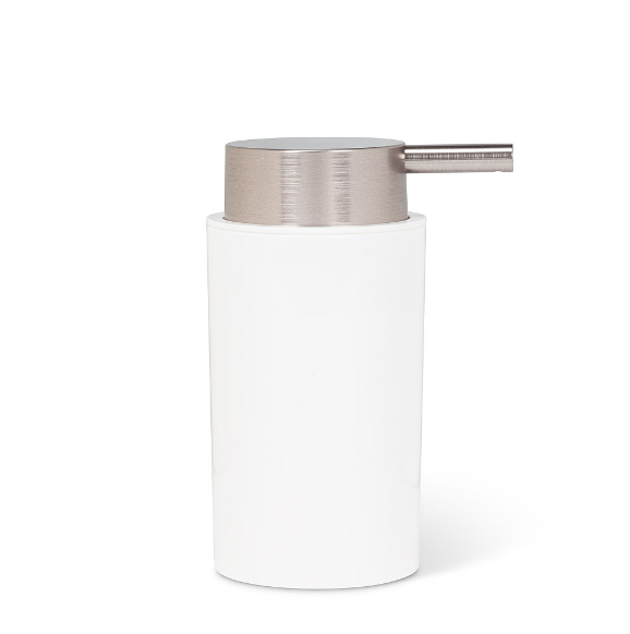 Cylinder Soap Pump - Silver