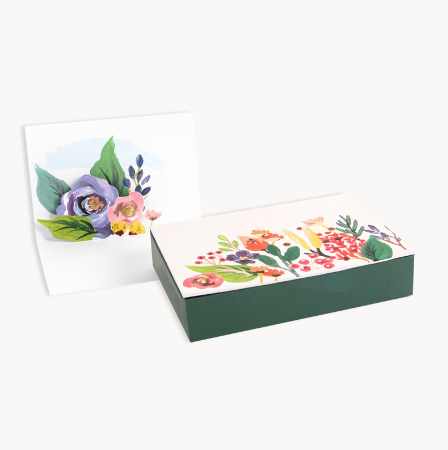 Boxed Card - Floral (Pop up)