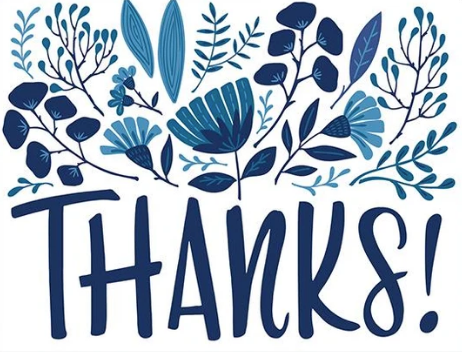 Thank You - Blue Floral