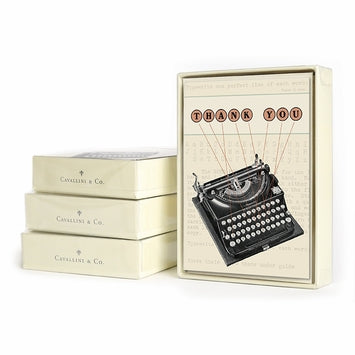 Cavallini Boxed Thank You  - Typewriter