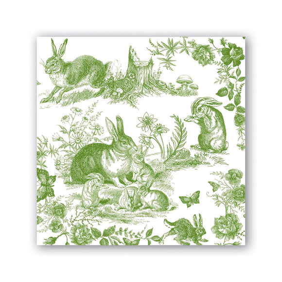 Michel Designs Cocktail Napkin - Bunny Toile