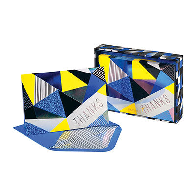 Papyrus Boxed Thank You - Blue & Yellow