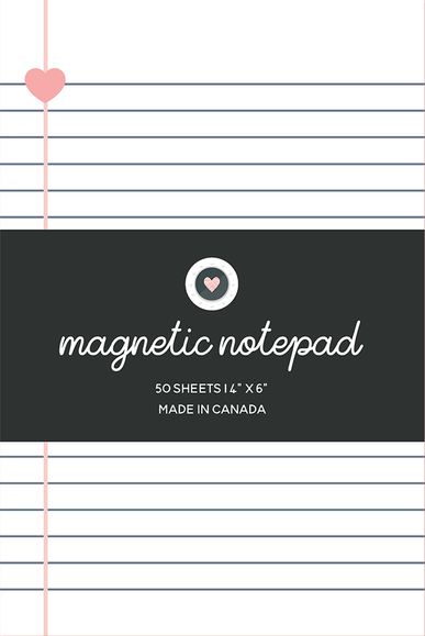 Magnetic Notepad - Heart