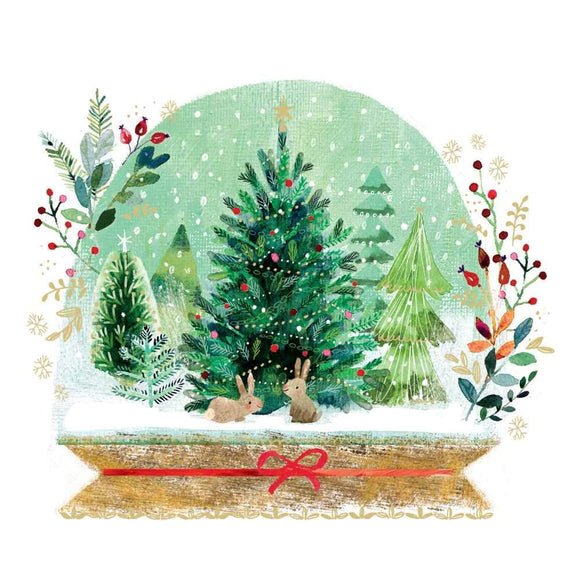 PPD Luncheon Napkin - Holiday Snowglobe