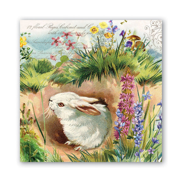 Michel Designs Luncheon Napkin - Bunny Hollow