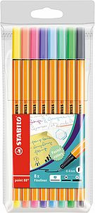 Stabilo Point 88 Pastel 8 Pack
