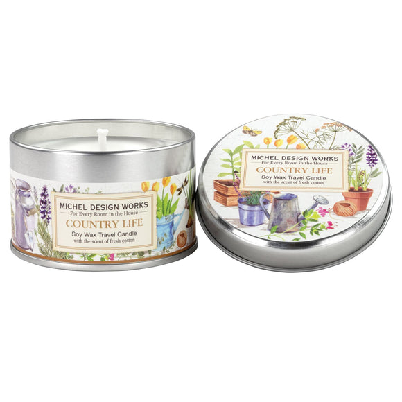Michel Design Travel Tin Candle - Country Life