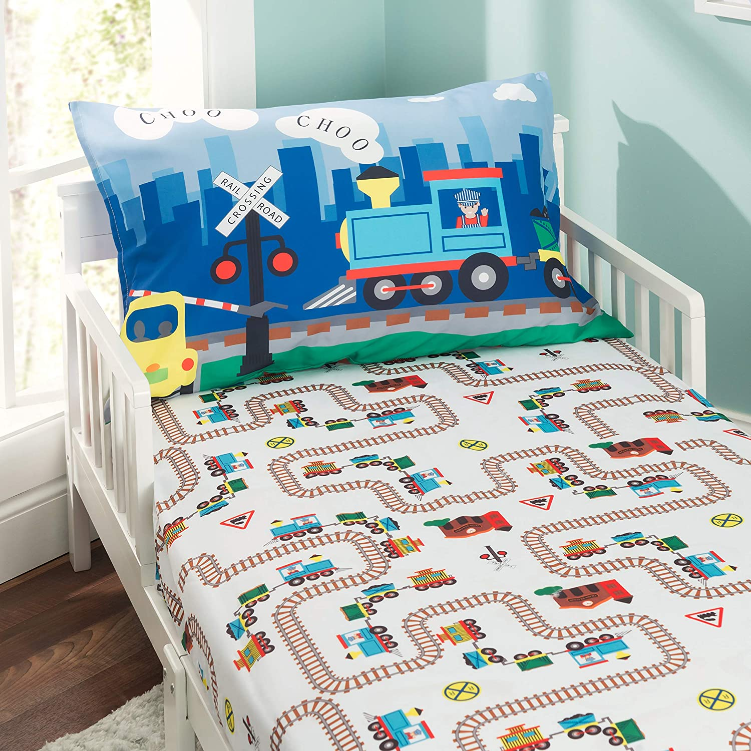 Breathable And Hypoallergenic Boys Toddler Sheets Set Police Toddler Bed Sheets Everyday Kids 3 Piece Toddler Fitted Sheet Fire And Rescue Soft Microfiber Flat Sheet And Pillowcase Set Bedding Sets