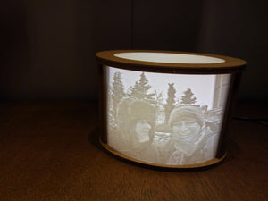 Nightlight - 3D Photo Come To Life Lithophane Illuminated Picture USB Powered Low Power Consumption