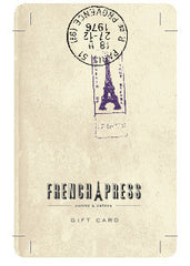 French Press in-store Gift Cards