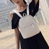 Retro Linen Backpack