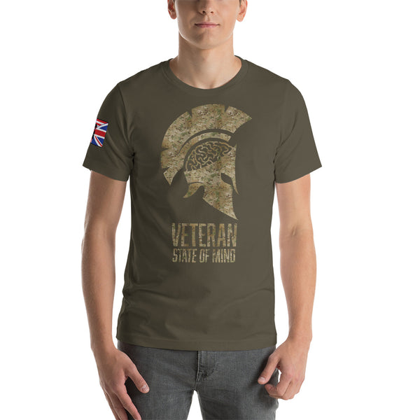 Multicam OG with flag sleeve Short-Sleeve Unisex T-Shirt