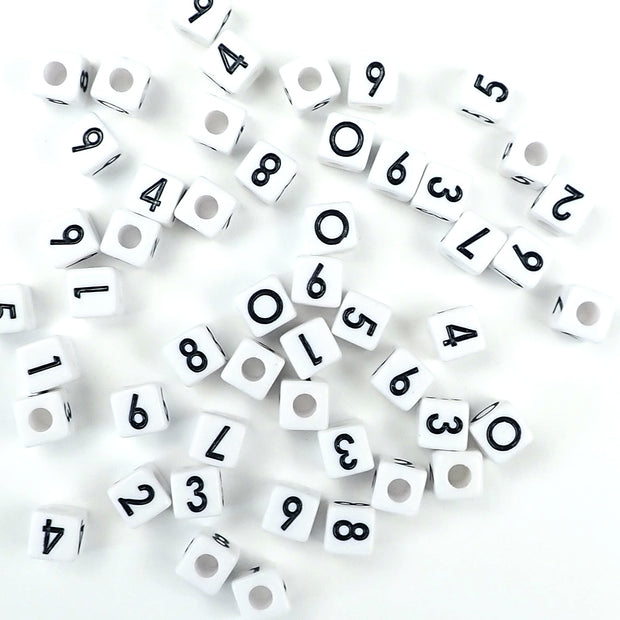 vertical hole cube number beads