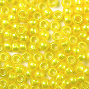 yellow pearl 6 x 9mm plastic pony beads in bulk