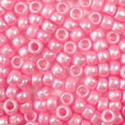 light pink pearl in 6 x 9mm plastic pony beads in bulk