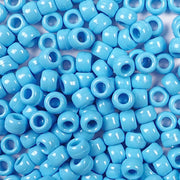 light blue 6 x 9mm plastic pony beads in bulk
