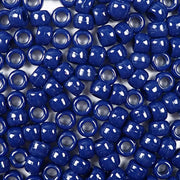 navy blue 6 x 9mm plastic pony beads in bulk