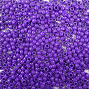 6 x 9mm plastic pony beads in purple
