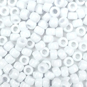 White Plastic Pony Beads