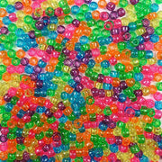 6 x 9mm Plastic Pony Beads bright glitter beads