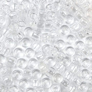 Clear Plastic Pony Beads 6 x 9mm, 500 beads