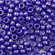 dark purple pearl 6 x 9mm plastic pony beads in bulk