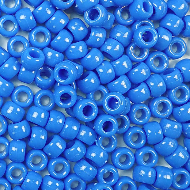 periwinkle blue 6 x 9mm plastic pony beads in bulk