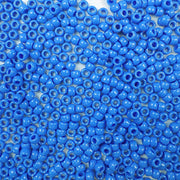 6 x 9mm plastic pony beads in periwinkle blue