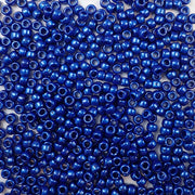 6 x 9mm plastic pony beads in cobalt pearl