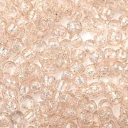 champagne glitter 6 x 9mm plastic pony beads in bulk