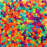 6 x 9mm Plastic Pony Beads in bold and bright opaque colors